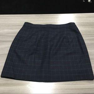 J Crew Skirt/Size 8/Navy Blue & Green